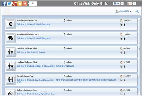 Chat Rooms Embed Code